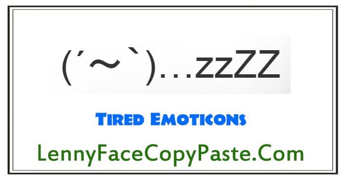 Tired Emoticons O O Japanese Text Emoji Kaomoji