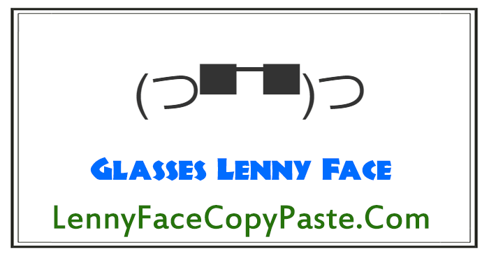 Glasses Lenny Faces